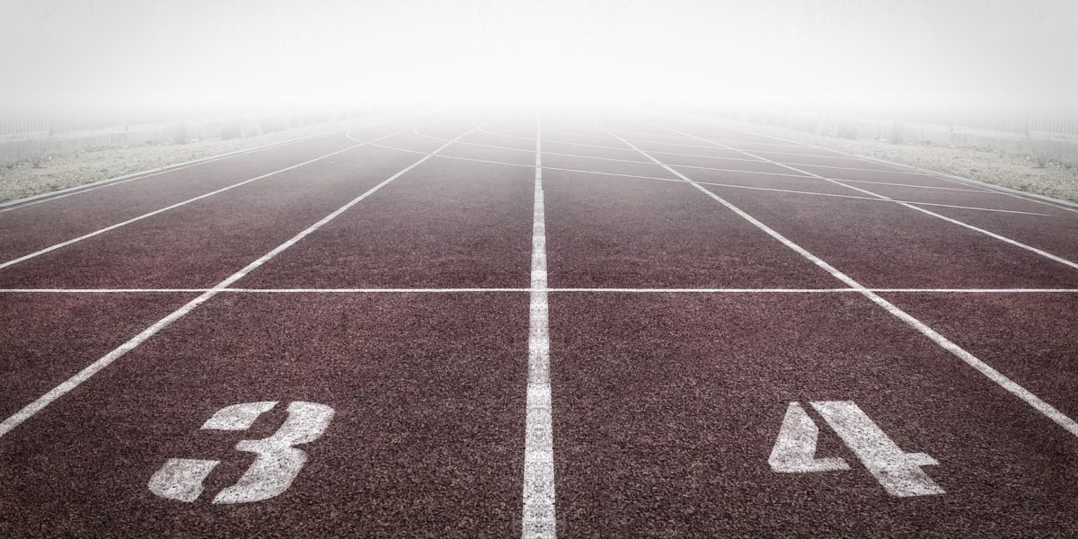 Starting lanes at a track