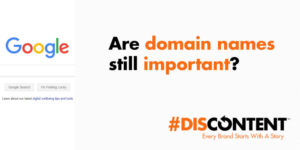Are domain names still important?